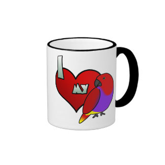 Amo mi taza femenina de Vosmaeri Eclectus