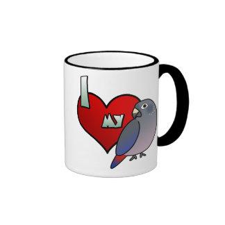 Amo mi taza oscura de Pionus