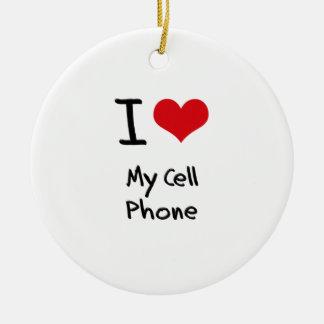 Amo mi teléfono celular ornamento para reyes magos