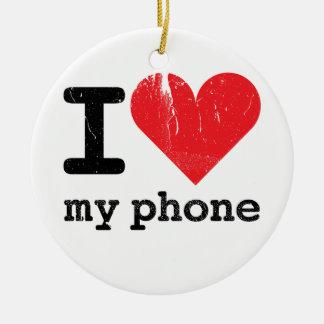 Amo mi teléfono ornamentos de reyes