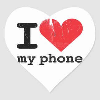 Amo mi teléfono pegatina en forma de corazón