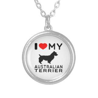Amo mi terrier australiano pendiente personalizado