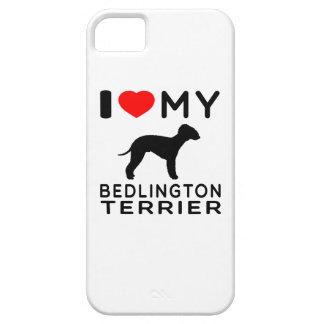 Amo mi terrier de Bedlington iPhone 5 Funda
