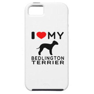 Amo mi terrier de Bedlington iPhone 5 Protectores