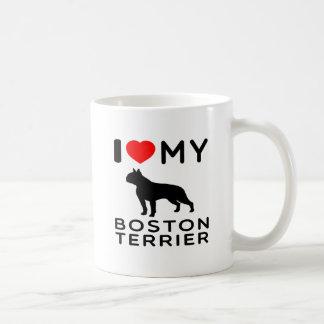 Amo mi terrier de Boston Taza Clásica