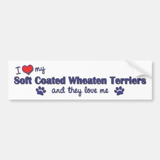 Amo mi Terrier de trigo revestido suave (los perro Pegatina De Parachoque