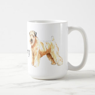 Amo mi Terrier de trigo revestido suave Taza Básica Blanca