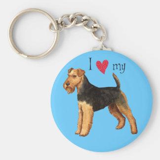 Amo mi Terrier galés Llaveros Personalizados