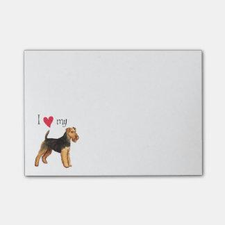 Amo mi Terrier galés Post-it® Notas