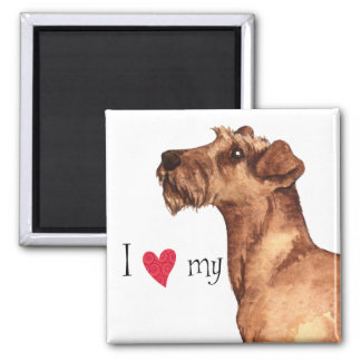 Amo mi Terrier irlandés Imán Cuadrado
