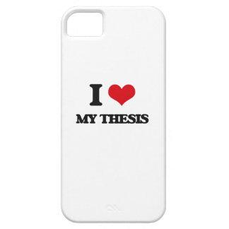 Amo mi tesis funda para iPhone 5 barely there