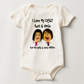 Amo mi tía y tío locos Cartoon Body De Bebé
