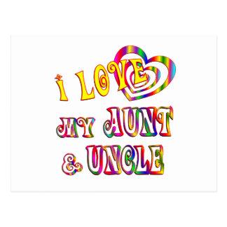 Amo mi tía y tío postales