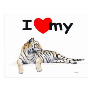 Amo mi tigre (para la luz) postal