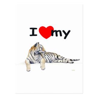 Amo mi tigre (para la luz) tarjetas postales