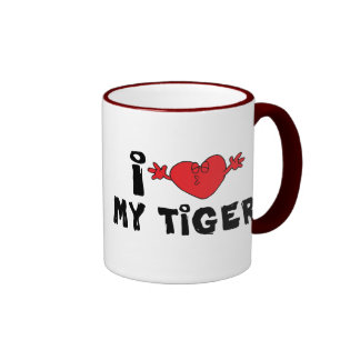 Amo mi tigre taza de dos colores
