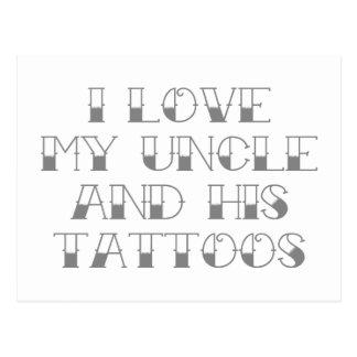 Amo mi tío y sus tatuajes postal