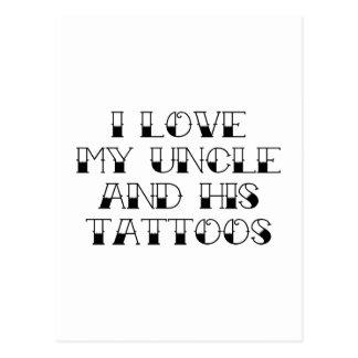 Amo mi tío y sus tatuajes tarjetas postales
