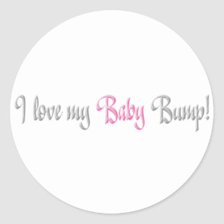 amo mi topetón del bebé - rosa etiquetas redondas