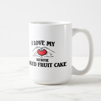 Amo mi torta hervida Newfie de la fruta Taza De Café