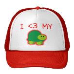 Amo mi tortuga gorro de camionero
