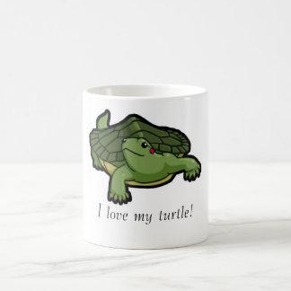 Amo mi tortuga taza clásica