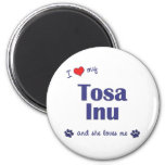 Amo mi Tosa Inu (el perro femenino) Imán