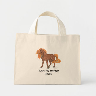 Amo mi tote minúsculo del caballo de Morgan Bolsas