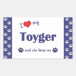 Amo mi Toyger el gato femenino Pegatinas