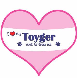 Amo mi Toyger (el gato masculino) Adorno Fotoescultura