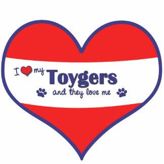 Amo mi Toygers (los gatos múltiples) Adorno Fotoescultura