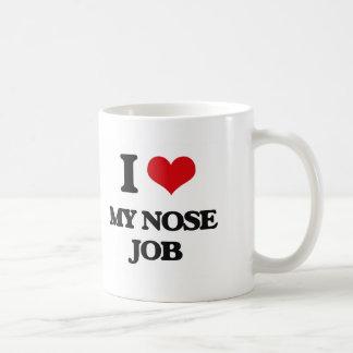 Amo mi trabajo de nariz taza