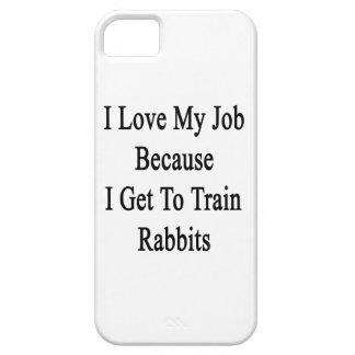 Amo mi trabajo porque consigo entrenar a conejos iPhone 5 funda