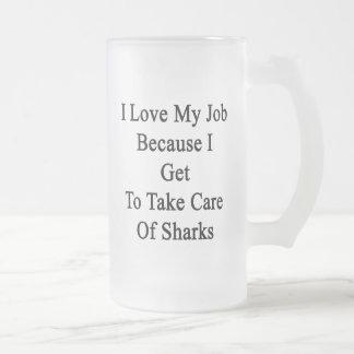 Amo mi trabajo porque consigo tomar el cuidado de  taza cristal mate