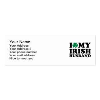Amo mi trébol irlandés del marido tarjetas de negocios