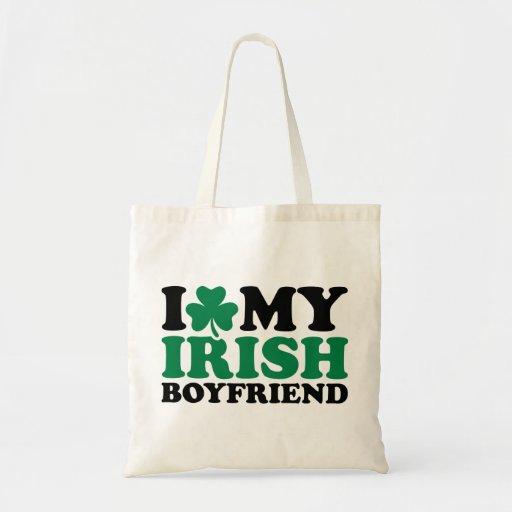 Amo mi trébol irlandés del novio bolsas de mano