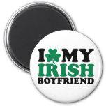 Amo mi trébol irlandés del novio iman de frigorífico