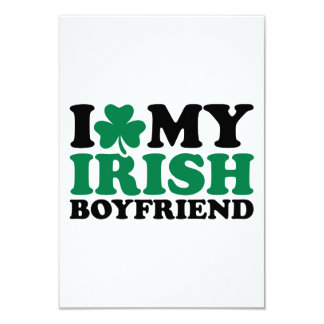 """Amo mi trébol irlandés del novio invitación 3.5"""" x 5"""""""
