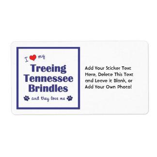 Amo mi Treeing Tennessee Brindles (los perros Etiqueta De Envío