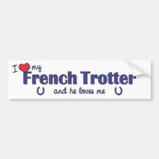 Amo mi trotón francés (el caballo masculino) pegatina para auto