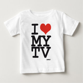amo mi TV Playera Para Bebé