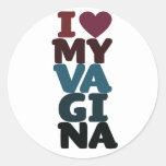 Amo mi vagina pegatina redonda