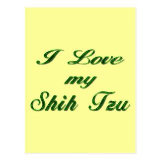 Amo mi verde de Shih Tzu Postal