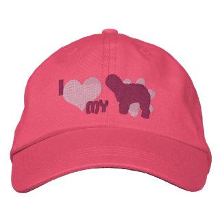 Amo mi viejo rosa inglés del perro pastor gorra bordada