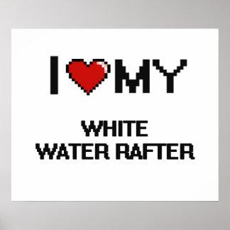 Amo mi viga del agua blanca póster