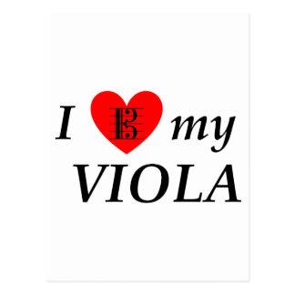 Amo mi viola (corazón de I mi viola) Tarjeta Postal