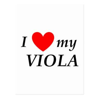 Amo mi viola (corazón de I mi viola) Tarjetas Postales