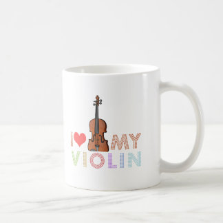 Amo mi violín taza clásica