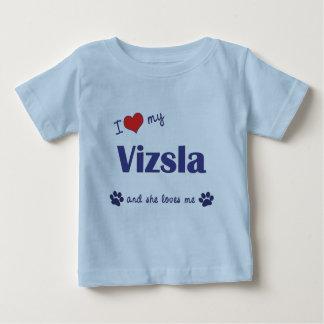 Amo mi Vizsla (el perro femenino) Remeras