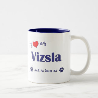 Amo mi Vizsla (el perro masculino) Taza